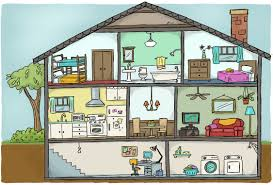 Floor Plan Furniture Clipart Parts Of A House Thinglink