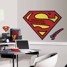 room mates popular characters superman logo dry erase wall decal popular characters superman logo dry erase wall decal