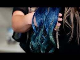 teal hair extensions mermaid ombré dying hair extensions blue teal turquoise