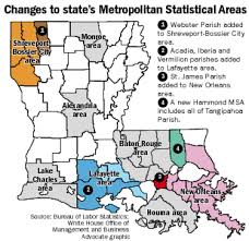 Louisiana Parishes Map by Lafayette Orleans Metros Adding Parishes Hammond Becomes A Metro