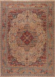 revolution celestial antique white and lobster bisque 5x8 area rug