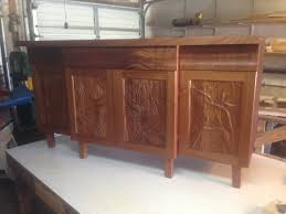 wood carved panels cabinets bird of paradise carved tropical