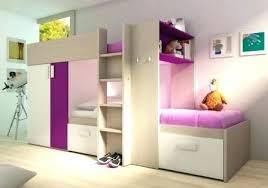 chambre combiné fille lit pour fille original lit 2 couchages combine mezzanine lit