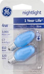 ge nightlight bulbs blue 4w 2 ct walmart com