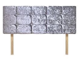 bedroom traditional crushed gray velvet tufted upholstered headboard