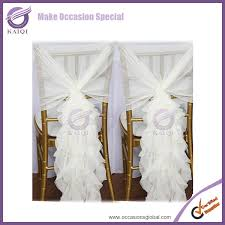 Chair Sashes Wholesale Fashionable Design Wholesale Chiffon Ruffled Wedding Chair Covers