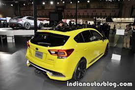 subaru yellow subaru impreza future sport concept 2017 tokyo motor show rear