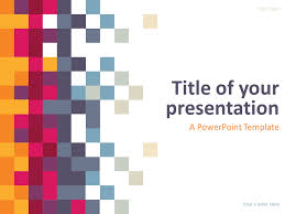 templates powerpoint abstract pixel powerpoint template presentationgo com template