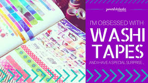 Washi Tape Designs by I U0027m Obsessed With Washi Tape Youtube