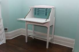 furniture small white secretary desk with mounted file shelves