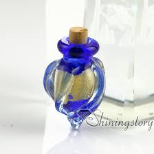 pet cremation urns glass vial pendant for necklaceash holder jewelry for ashespet