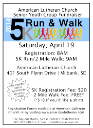alc senior youth group fundraiser 5k run 2 mile walk american