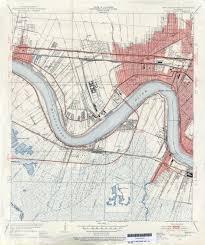 New Orleans La Map by File Jefferson Parish Louisiana Riverfront New Orleans Map 1951