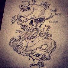skull n snake tattoo by jirjirjir on deviantart