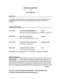 examples of a good objective for a resume resume example and