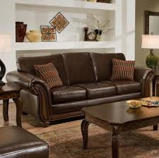 Decorating With Brown Leather Sofa Home Decoration Brown Tones Striped Kilim Sofa Pillows Beneath
