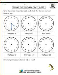 clock worksheet correct the time to the nearest minute math