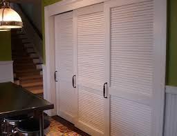 White Shutter Closet Doors White Louvered Sliding Closet Doors Home Design Ideas