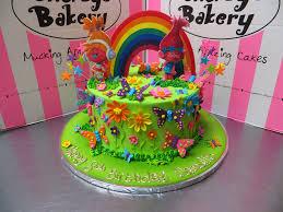 trolls themed single tier birthday cake 2 2d charac u2026 flickr