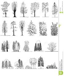 Architecturals by A Set Of Tree Silhouettes For Architectural Or Landscape Design