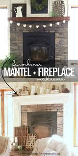 mantel and fireplace makeover with farmhouse charm remodelaholic