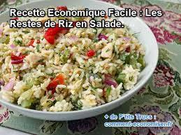 recette cuisine economique recette economique facile les restes de riz en salade