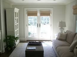 Window Treatments French Doors Family Room Traditional With Built - Family room in french