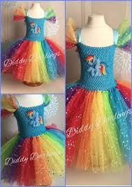 Pony Rainbow Dash Halloween Costume Sparkly Rainbow Dash Tutu Dress Beautiful Original Perfect