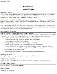 accounts clerk cv example u2013 cover letters and cv examples