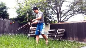 archery in combat fighting unarmoured with bow and arrow video