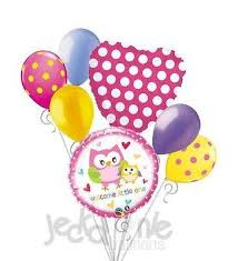 welcome home balloon bouquet woodland forest animal tagged baby girl jeckaroonie balloons