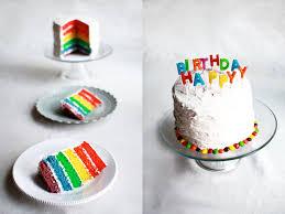 flourishing foodie rainbow birthday cake