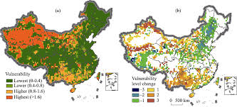 Kunlun Mountains Map Npp Vulnerability Of The Potential Vegetation Of China To Climate