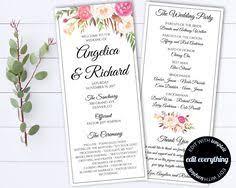 tea length wedding program template diy fan wedding program template and still t