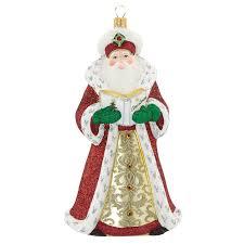 reed and barton folklore santa 2016 ornament glass