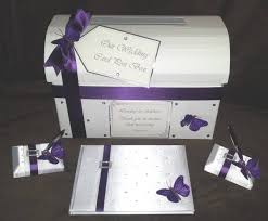 purple guest book purple wedding guest book purple white butterfly wedding