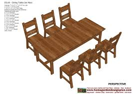 Wood Furniture Plans Pdf by Home Garden Plans Ds100 Dining Table Set Plans Woodworking