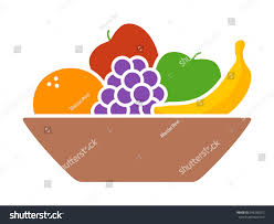 bowl fruit fruits orange banana grapes stock vector 545296072