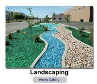 decorative landscape glass landscaping ideas