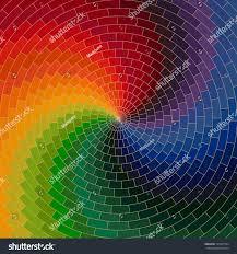 Color Spectrum Spectrum Wheel Made Bricks Rainbow Color Stock Vector 129473594