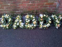 loose letters u0027daddy u0027 funeral flowers horsham