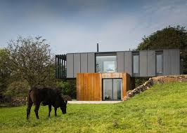 Home Design Group Ni Grillagh Water House Built From Stacked Shipping Containers