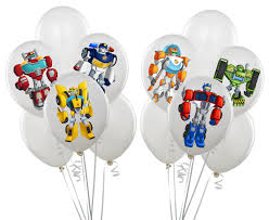 Rescue Bots Favors by Transformers Rescue Bots Balloon Stickers By Yourmomentsintime