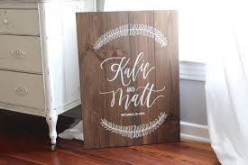 personalized wooden wedding signs rustic wedding sign personalized wedding sign with wreath wooden