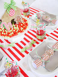 candyland christmas tablescape kids holiday table party ideas