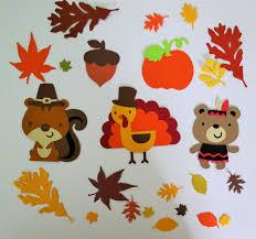 thanksgiving scrapbook paper cute animals fall thanksgiving turkey indian bear pumpkin leaves