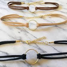 choker necklace diy images Anillo de oro gargantilla gargantilla negro con por sunandback jpg