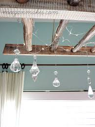 Adding Crystals To Chandelier How To Make A Rustic Ladder Chandelier What Meegan Makes
