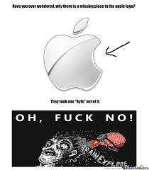 Meme Logo - apple logo by spook meme center
