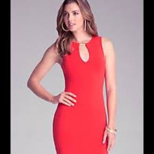 bebe red dresses zilnasa waker